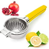 CasaLaMia Lemon Squeezer Lime Squeezer Citrus Squeezer-Portable, Easy to Press and Clean-Premium Quality Stainless Steel Citrus Juicer Hand Press to manually extract lemon, lime, orange juices easily