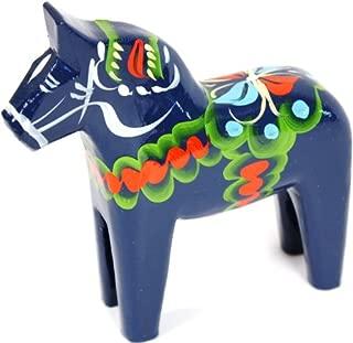 Traditional Wooden Swedish Dala Horse - Blue 5