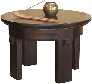 XoticBrands Seagrass Meditation Mango Wood Side Table - Espresso