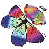 ABOOFAN 1 juego de disfraces para niños, diseño de mariposas, disfraz de mariposa con alas y colores surtidos