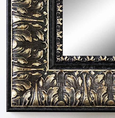 Online Galerie Bingold Spiegel Wandspiegel Badspiegel Flurspiegel Garderobenspiegel - Über 200 Größen - Ancona Schwarz Silber 7,5 - Außenmaß des Spiegels 80 x 100 - Wunschmaße auf Anfrage - Modern