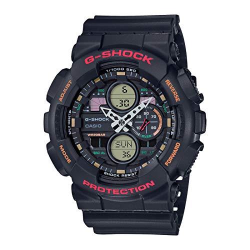 CASIO Herren Analog – Digital Quarz Uhr mit Resin Armband GA-140-1A4ER