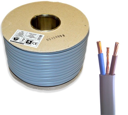 6242Y Stromkabel mit Erdung, 16 mm, 50 m, BASEC-geprüft, harmonisiert, BS6004