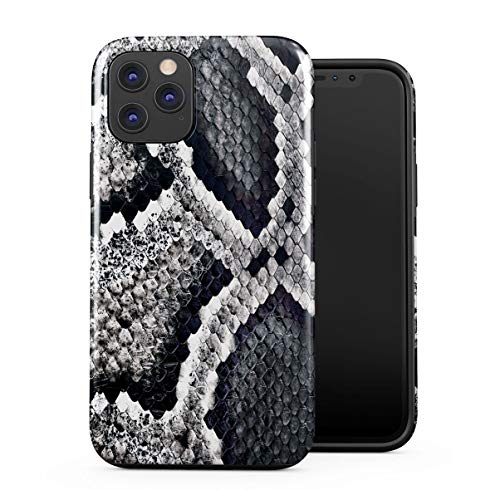 DODOX Snake Skin Pattern Silicone Inner & Outer Hülle 2-Teilig, Doppellagig: PC + TPU Robuste Hülle Kompatibel mit iPhone 11 Pro Max Handyhülle Case Cover