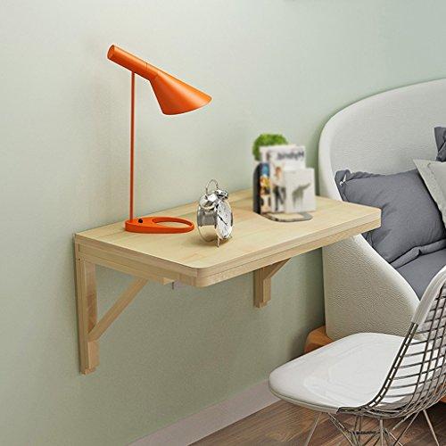 Wandbord van massief hout, klaptafel, eettafel, computertafel, eettafel, educatief boek, grenen opvouwbaar 120 * 50CM