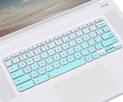 CASEDAO Keyboard Cover for Acer Chromebook 15 CB3-532 CB5-571 CP315 CB515 C910 | Chromebook Spin 11 311 511 512 15 | Acer Chromebook R 11 | Acer Chromebook Spin 13 CP713 Laptop Skin - Gradual Mint