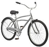 Schwinn Huron Adult Beach Cruiser Bike, Featuring 17-Inch/Medium Steel Step-Over Frames, 1-Speed Drivetrains, Grey