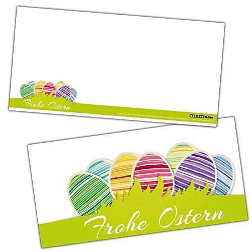 FROHE OSTERN Gruß-Karten-Set XL (24 Stück) Moderne Osterkarten ideal als Brief oder Postkarte und als Beilage zum Geschenk geeignet - von BREITENWERK®