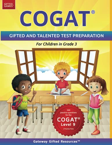 COGAT Test Prep Grade 3 Level 9: Gifted and Talented Test...