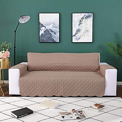 Fundas Sofa Elasticas,Funda de sofá antideslizante, alfombrilla para perros y niños, funda de sofá reversible y elástica elástica, fundas para reposabrazos, protector de muebles-Caqui_1-Plazas 55