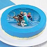 DECOCINO Zucker-Tortenaufleger DISNEY'S Frozen - Die Eiskönigin, Anna & Elsa – Kuchendeko – Frozen-Tortendeko, Kindergeburtstag & Geburtstagsdeko