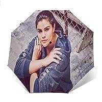 自動開閉式折りたたみ傘 歌手Selena Gomez 傘 防風、防水および紫外線抵抗、持ち運びが簡単で、パーソナライズがいっぱい 学校、旅行、買い物、買い物、仕事