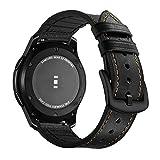 Aottom Kompatibel für Samsung Gear S3 Frontier Armband Galaxy Watch 46mm Lederarmband,Armband 22mm Huawei Watch GT2 46mm Lederarmband Galaxy Gear S3 Classic Armbänder Amazfit GTR 47mm [Leder+Silikon]