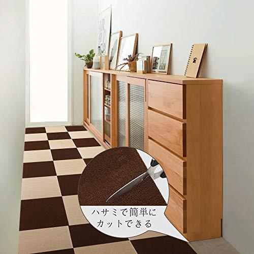 HOSHIDA『ジョイントマットブラウン10枚+ベージュ10枚』