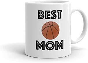 BEST BASKETBALL MOM Sports Ball Coffee Mug (11oz) | FREE SHIPPING - Personalized Photo Option Love & Appreciation Mothers Day Gift by Son Daughter Athlete Kids Children | Available in 15oz & for Dad