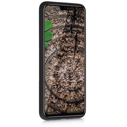 kwmobile Holz Schutzhülle für Huawei Honor 8X - Hardcase Hülle mit TPU Bumper Walnussholz in Dunkelbraun - Handy Case Cover - 2