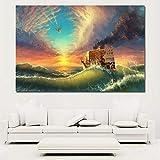 SADHAF HD impresión lienzo mar barco arte pintura moderna artista residencia decorativo pared arte imagen A2 40x50cm