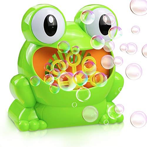 Gifort Automatic Maquina Burbujas máquina de soplado de Burbujas portátil, soplador de Burbujas Alimentado por batería (batería Not incluida) para niños pequeños, Juguetes Ideales para niños