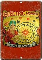 電気ワンダーウォールメタルポスターレトロプラーク警告ブリキサインヴィンテージ鉄絵画装飾オフィスの寝室のリビングルームクラブのための面白いハンギングクラフト
