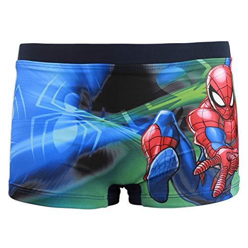 Marvel Avengers Spiderman - Costume da Bagno Pantaloncino Boxer Mare Piscina - Bambino - Prodotto Originale con Licenza Ufficiale [1705 Blu Navy - 4 A - 104 cm]
