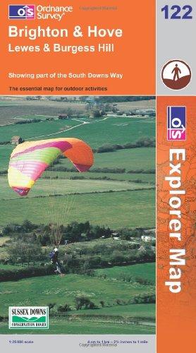 OS Explorer map 122 : Brighton & Hove