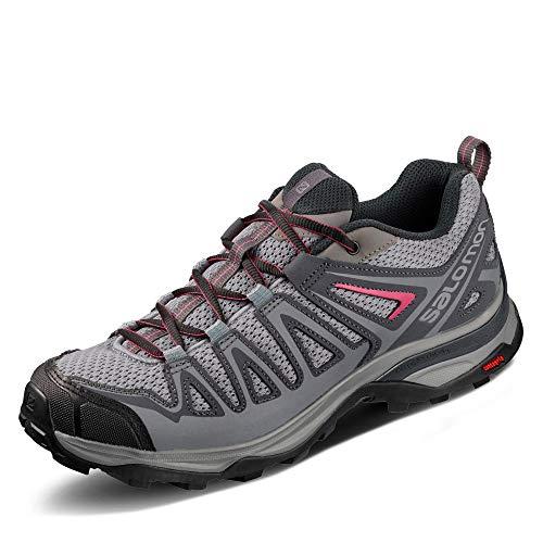 Salomon Femme X Ultra 3 Prime W, Chaussures de Randonnée et Multifonction, Gris (Alloy/Ebony/Malaga), Pointure: 36 2/3