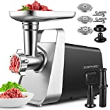 Meat Grinder Electric, CHEFFANO Heavy Duty Meat Grinder Machine Sausage Stuffer Maker 2000W Max with Convenient Handle, 9 Accessories [ Sausage & Kubbe Kit Included ], Home Commercial Use