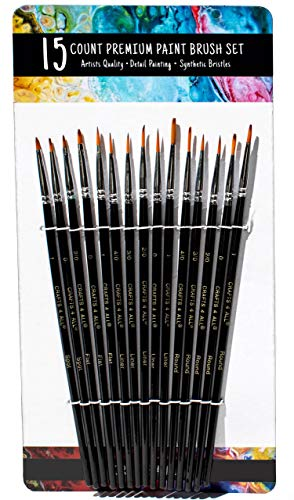 Our #1 Pick is the Crafts 4 ALL Fine Tip Paint Brush Set