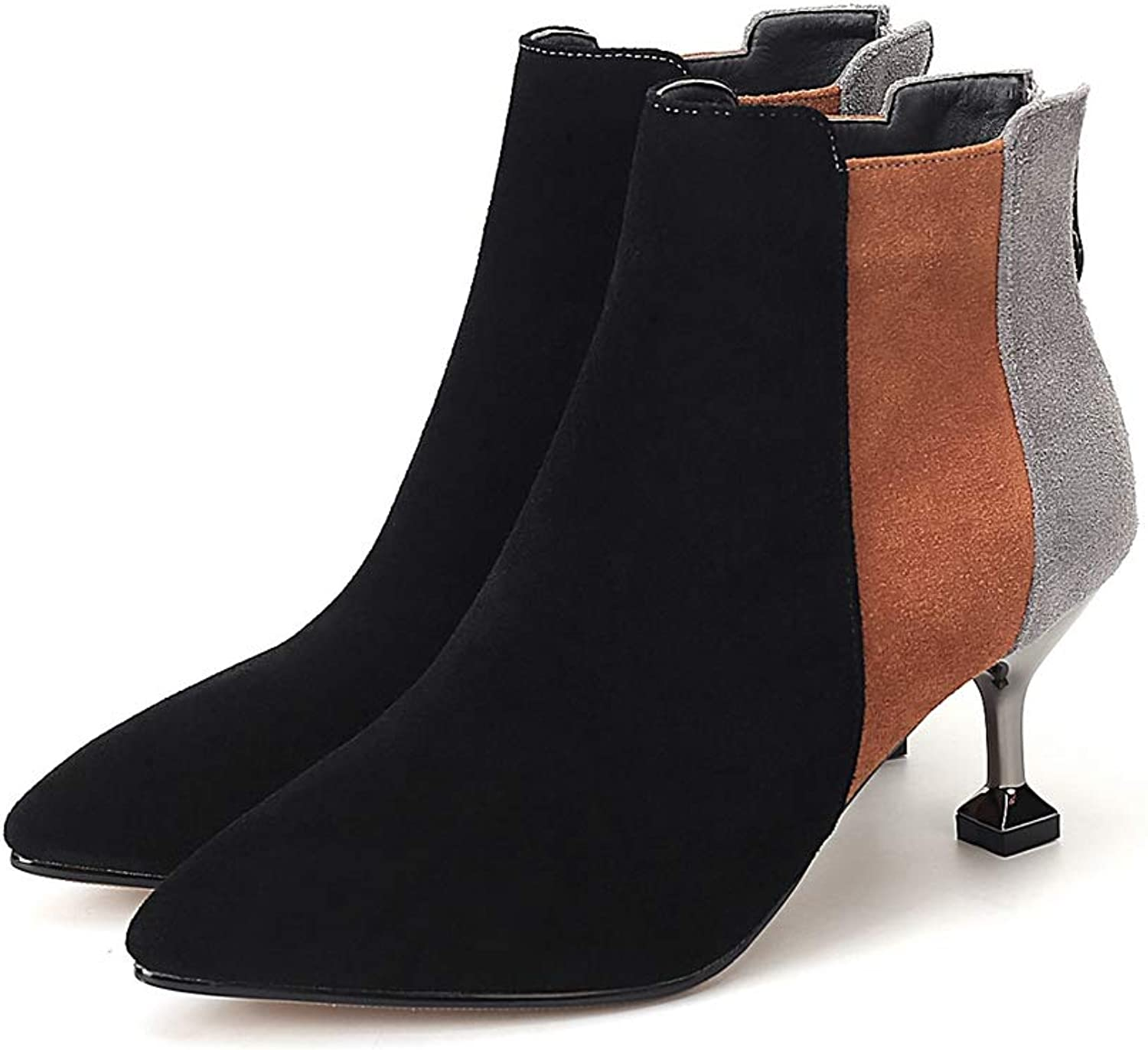 Kyle Walsh Pa Women Elegant Ankle Booties Pointed Toe Thin Heel Female Trendy Autumn Winter Boots