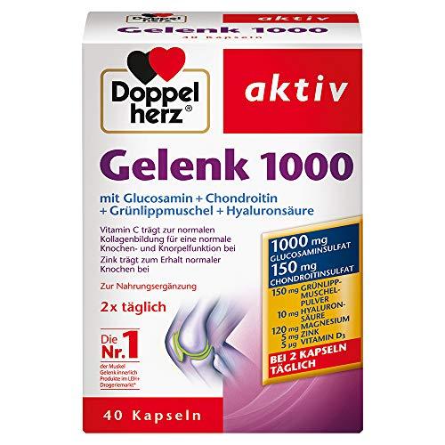 Articolazioni 1000 con Vitamina C, Glucosamina e Condroitina per fornire un sostegno alla funzione di cartilagine e ossa, Integratore Alimentare - 40 capsule