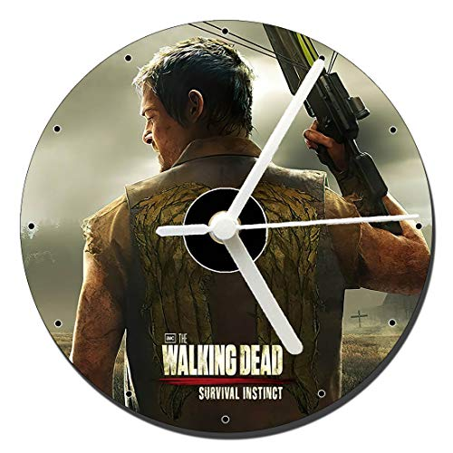 MasTazas The Walking Dead Survival Instinct Tischuhren CD Clock 12cm