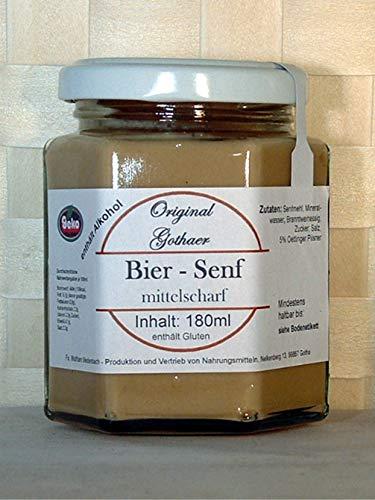Original-Gothaer-Senf im Sechseckglas a´180ml - OVP - in Varianten (Gothaer Bier–Senf, mittelscharf)
