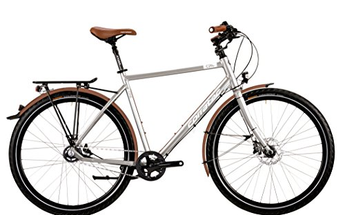 Corratec C29er Trekking One Alfine 11s Gent chrome silver matt/white/brown Rahmengröße 54 cm 2016 Trekkingrad