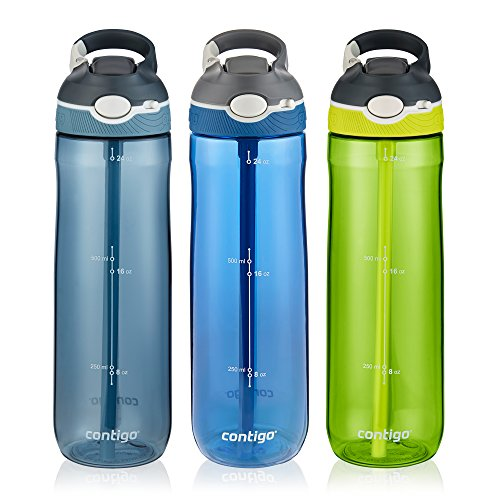 Contigo Autospout Straw Ashland Water Bottle, 24 Oz, 3-pack Now $17.99 (Was $36.99)