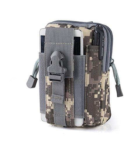 MAETEK Outdoor Tactical Holster Military Molle EDC Hip Waist Belt Bag 5.5/6 inch Nylon Zipper Pouch Purse Phone Case for iPhone 7 6S Plus Galaxy S7 S6 Edge LG HTC Moto Zenfone and More-Camouflage