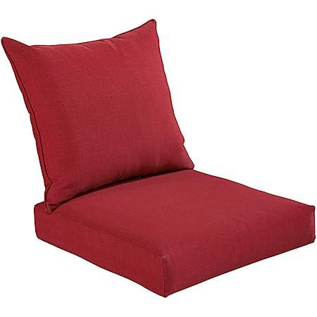Amazon Com Bossima Indoor Outdoor Rust Red Deep Seat Chair Cushion Set Spring Summer Seasonal Replacement Cushions Garden Outdoor