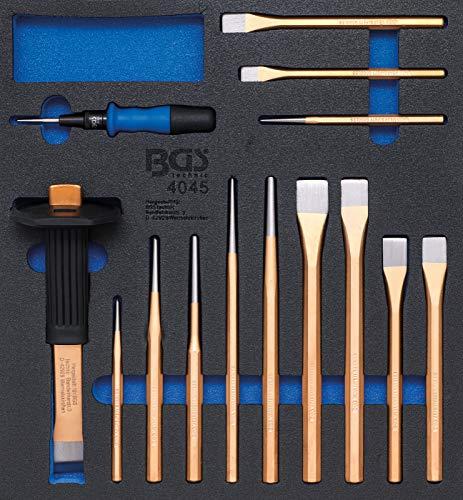 BGS 4045 | Insert de servante d'atelier 2/3 : Pointeaux, burins, chasse-goupilles | 14 pièces