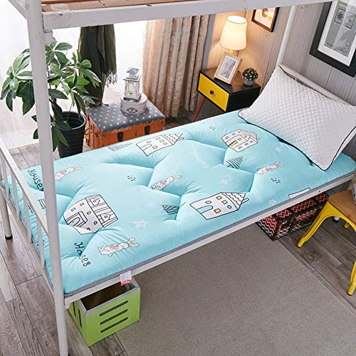 JY&WIN Thick Japanese Floor Mattress,Foldable Roll Up Mattress,All Seasons Student Dormitory Mattress Easy To Carry Anti-slip-i