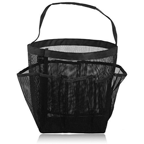 Hysagtek rápidamente Dry 8 bolsillos de malla bolsa para colgar Toiletry bolsas de cosméticos de almacenamiento portátil de viaje bolsa de almacenamiento organizador de bañera y ducha
