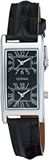 Unisex Silver-Tone Dual Time Zone Leather Strap Watch # GWC15090SB