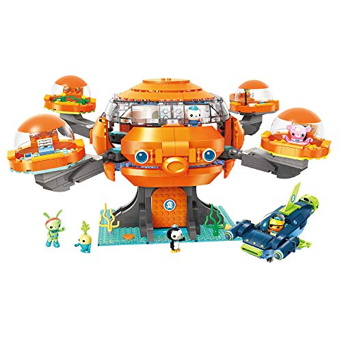 Enlighten Octonauts Octopod Playset Cup-Q Hammerhead Shark Vehicle & Barnacles kwazii Peso Tweak Inkling Vegimals 921pcs Building Block Set-Without Original Box