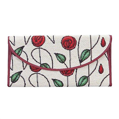 Signare Tapestry Arazzo portafoglio donna, portatessere donna, portafogli donna, Lady Wallet con Disegni Floreali (Mackintosh Rose)