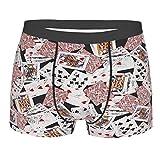 Vintage poker Cards Casino Boxer Calzoncillos suaves y transpirables, ropa interior cómoda para hombres
