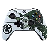 eXtremeRate WII US Army Skull Faceplate Cover, Soft Touch Front Housing Shell Case, Comfortable Soft Grip...