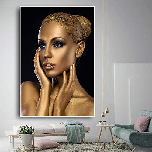 tzxdbh Multicolor sobre Lienzo Dorado Nude Girl Pop Nordic ati Ative Imagen/Mural/Impresión artística está Lista