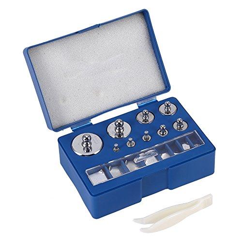 Pesos de Calibración, 17 unidades, 10 mg-100 g (total 211,1 g), Juego de Pesas de Calibración de Precisión, Pesas de Prueba de Acero Inoxidable para Báscula de Bolsillo Digitales