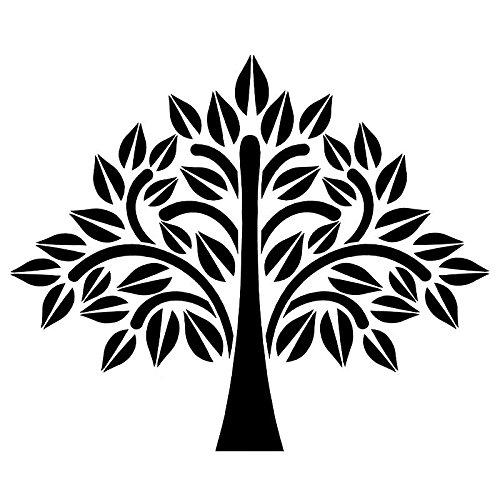 Ideen mit Herz Laser-Kunststoff-Schablone, DIN A4 | perfekt geeignet für Textilgestaltung, Wandgestaltung, Fenster, Papier, Scrapbooking, Kinder, Basteln, DIY (Baum)