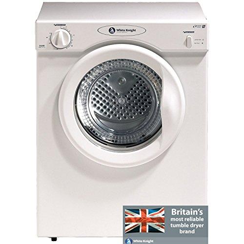 White Knight C38AW Freestanding Front-Loading 3kg White Tumble Dryer, Energy Rating C.