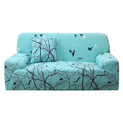 uxcell 1 2 3 4 Seater Sofa Covers Sofa Slipcovers Protector Elastic Polyester Spandex Fabric Featuring Soft Form Fit Couch Covers with One Free Cushion Case #8 (92 x 122 Inch)