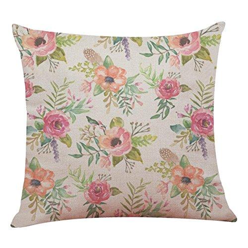 Fundas De Cojines, Xinantime Decoración del hogar Fundas de colchón Hello Spring Throw Pillowcase fundas de almohada 45cm x 45cm (E)